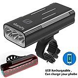 Best Bike Lane Lights - Gyhuego Bike Light USB Rechargeable, 4000 Lumen Bicycle Review