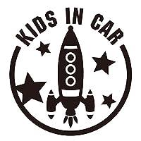 imoninn KIDS in car ステッカー 【シンプル版】 No.15 ロケット (黒色)