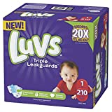 Luvs Luvs Triple leakguards Diapers Size 1 210 Count, 210 Count