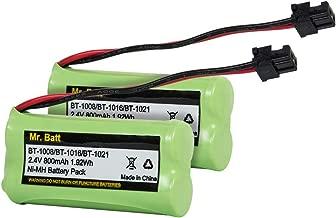 Mr.Batt BT-1021 BBTG0798001 Battery Compatible for Uniden BT-1021 BT-1025 BT1021 BT-1008 BT-1016 Cordless Handset Phone (2 Pack)