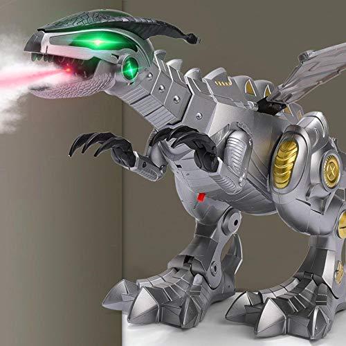 Moving Tail Spray Dinosaurier Simulation Tier mechanischen Drachen Modell Kinder-Silver Child's Geschenk
