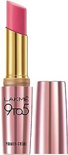 Lakme 9To5 Primer + Crème Lip Color, Pink Rouge CP3, 3.6 g
