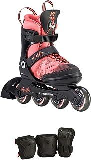 K2 Skate Youth Marlee Pro Pack 直排溜冰鞋,黑色/珊瑚色 1-5 I190200601