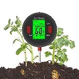GPWDSN Medidor de pH del Suelo, 5 en 1, medidor de Humedad/Temperatura/luz/Humedad/pH del Suelo, Kits de Herramientas de jardinería para el Cuidado de Las Plantas, Ideal para Uso en Jardine