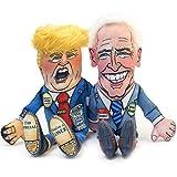 """FUZZU 2020 Election Collection: Special Edition Donald & Joe Biden Political Parody Dog Toys – Medium 12"""" Size Toy"""