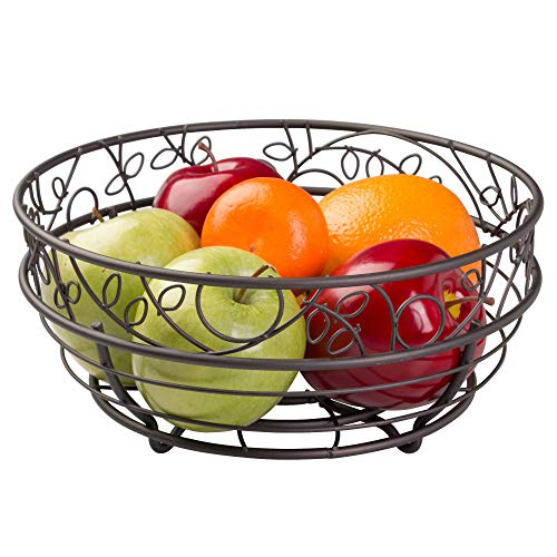 iDesign Twigz Wire Fruit Bowl Centerpiece for Kitchen and Dining Room Countertops,...