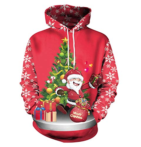 Ugly Christmas Jumpers Hoodie Funny Xmas Jumpers for...