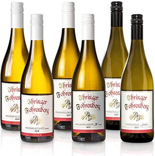 FEINSTE WEINE Weinset 'Ihringer Fohrenberg' - Weißweinpaket Chardonnay und Grauburgunder,S' aus dem Kaiserstuhl, Paket mit:6 Flaschen