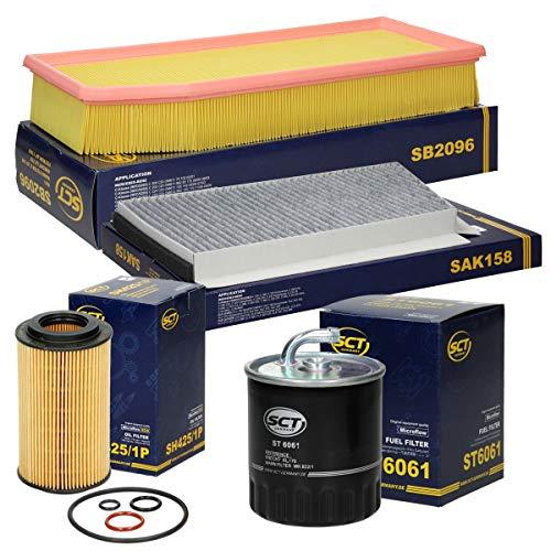 Inspektionspaket Wartungspaket Filterset 1 x Kraftstofffilter/Dieselfilter 1 x Innenraumfilter mit Aktivkohle 1 x Luftfilter 1 x Ölfilter inkl. Dichtungssatz