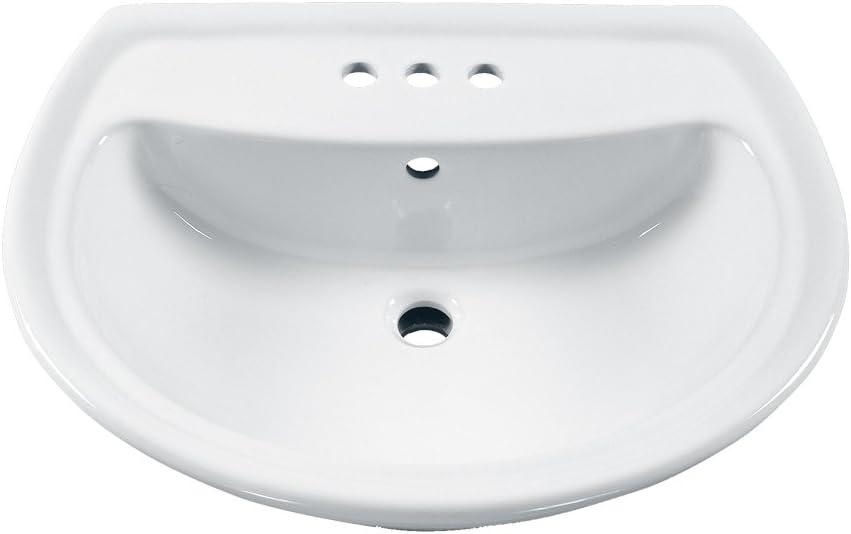 American Standard 0236004 020 Cadet Pedestal Lavatory Top With 3 Faucet Holes 4 Centers 24x19 White Amazon Com