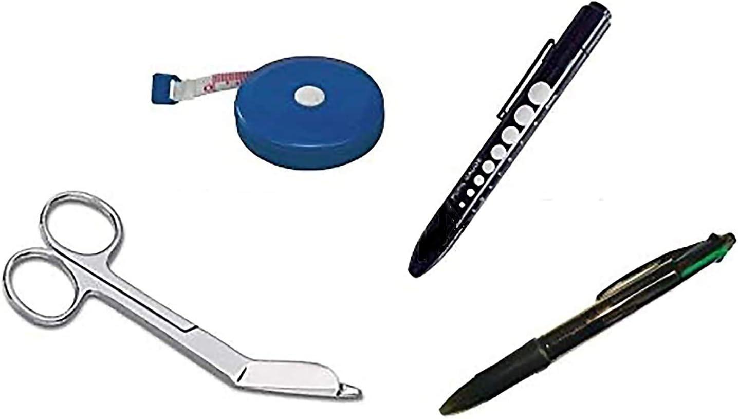 EMI Nurse 4 piece Kit MN-01: Penlight Pupil Industry No. 1 Gauge + Tape In stock Measure