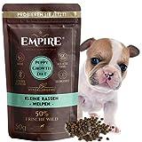 Comida seca para cachorros de Empire | 50 g | Premium sin cereales para razas pequeñas de hasta 25 kg | 50% carne de caza fresca y jabalí | 100% natural y sin gluten | Sin OMG