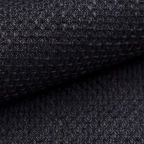 NOVELY® LANZ Premium Möbelstoff | Schwerer Webcharakter | grob gewebter Polsterstoff | Meterware | Struktur-Stoff | 15 Farben (07 Schwarz)