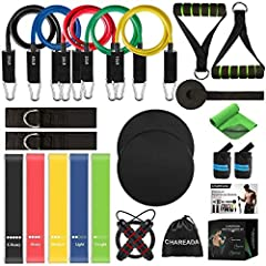 MULTIPLE OPTIONS WORKOUT: Sold by CHAREADA only. The resistance bands are made of highest quality & eco-friendly natural latex, premium ABS & EVA material, which come with durable handles and anchor as a whole set. Plenty of highest quality exercise ...