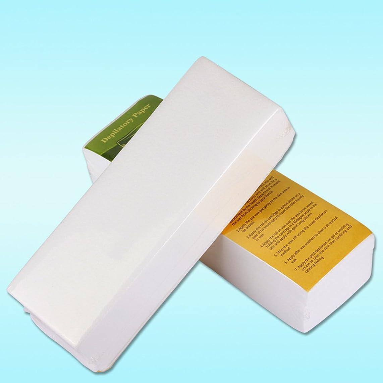 出発前者進捗Rabugoo 100個/セット使い捨て不織布ティッシュシェービング脱毛蜜蝋脱毛紙
