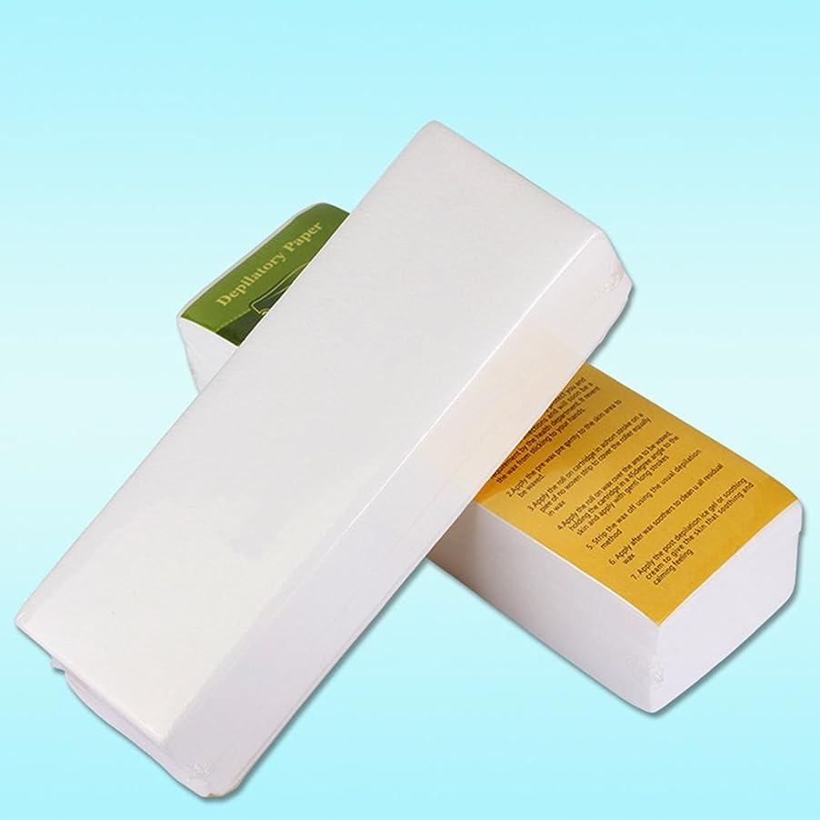 壁紙使役解決するRabugoo 100個/セット使い捨て不織布ティッシュシェービング脱毛蜜蝋脱毛紙