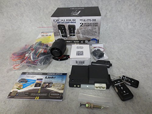 EXCALIBUR AL-1775-3DB - Deluxe LED 2-Way Vehicle Security & Remote Start system