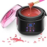 Tomight Wax Warmer, Hair Removal Kit Wax Heater with Adjustable Temperature, Waxing Kits Professional Full Kit with 6 Packs Beans, Hot Waxing Kit for Salon Home