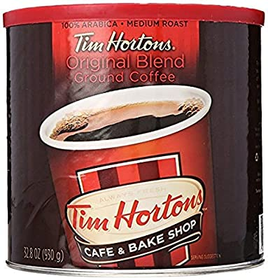 Tim Hortons 100% Arabica Medium Roast Original Blend Ground Coffee, 32.8 Ounce - SET OF 4
