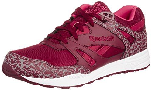 Reebok Ventilator Reflective Unisex-Erwachsene Sneakers, Burgund/Weiss, 42.5 EU