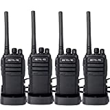 Retevis RT21 Walkie Talkies Rechargeable Two Way Radio 16 Channels FRS VOX Scan Emergency Long Range 2-Way Radio for Adults(4 Pack)