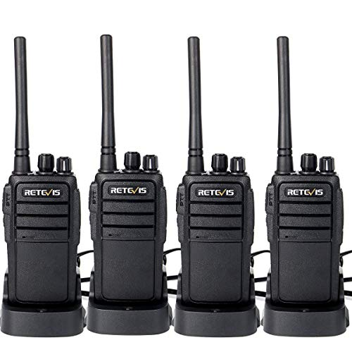 Retevis RT21 Walkie Talkies Rechargeable 16 Channels FRS License-Free 2 Way Radios(4 Pack)