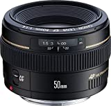 Canon EF 50mm f/1.4 USM - Objetivo para Canon (Distancia Focal Fija 50mm, Apertura f/1.4, diámetro: 58mm) Color Negro (Reacondicionado Certificado)