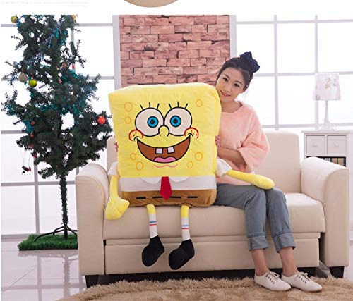 YSKQDQ Stuffed Animal Baby Pillow Doll Cotton Cushion Gift YSKQDQ (Color : 30cm, Height : Sponge Bob)