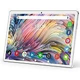 タブレット 10.1インチ Android9.0 3G電話タブレット モバイルデュアルSIMカード 2.4GHz Wi-Fi対応 クアッドコアCPU 高精細HD1280*800IPS液晶ディスプレイ ROM32GB 128GのmicroSDカードサポート デュアルカメラ6000mAhバッテリー /WIFIモーデル/GPS/FM/ Bluetooth機能 日本語説明書 銀
