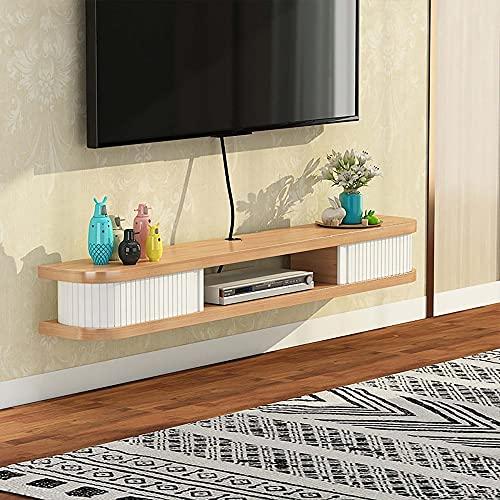 Mueble TV de Pared,Unidad Entretenimiento Flotante Gran Capacidad,Estante Flotante para Componentes Soporte TV para Sala de Estar Y Dormitorio/A / 80cm
