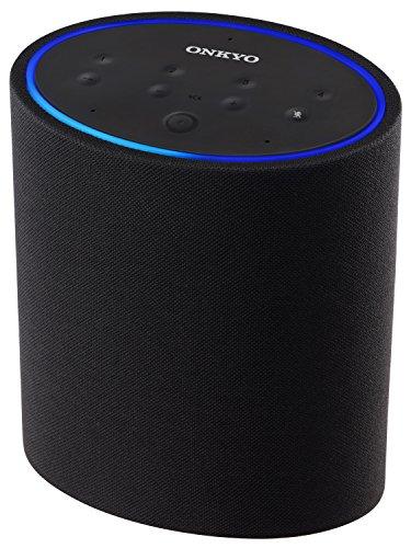 Onkyo P3 Smart Lautsprecher mit Amazon Alexa, (Multiroom, Smart Home, WLAN, DTS Play-Fi, Streaming, Amazon Music, sprechen-hören-steuern, kompaktes Design), schwarz