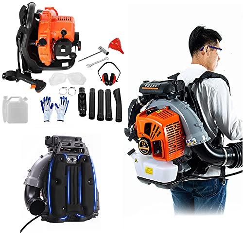 Backpack Blower Gas Powered Back Pack Leaf Blower 2.3Hp High Performance 2-Stroke 63c-c