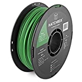 HATCHBOX PLA 3D Printer Filament, Dimensional Accuracy +/- 0.03 mm, 1 kg Spool, 3.00 mm, Green