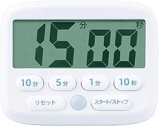 ソニック デジタルタイマー トキ・サポ 光ってお知らせ ホワイト LV-3051-W