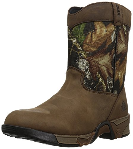 Rocky Unisex-Kid's FQ0003639 Mid Calf Boot, Mossy Oak Break up Infinity Camouflage, 6 M US Big Kid
