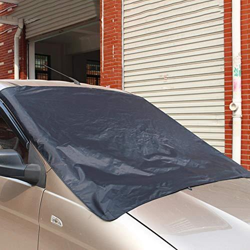 vogueyouth 190T Cubierta Impermeable del Parabrisas del Coche - 172 X 122cm Láminas de protección contra el Hielo Cortina de Ventana Delantera Universal a Prueba de Viento y antirrobo con imanes