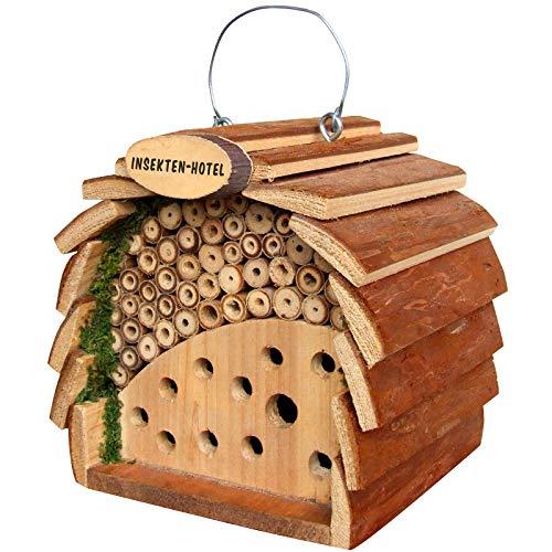 Gardigo Insektenhotel für Bienen und Marienkäfer aus FSC Holz | Nistkasten zum Aufhängen für Garten und Balkon