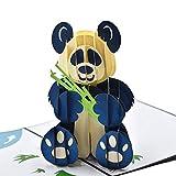 Paperkami Panda Hug Greeting Card for Kids, Children, Wishes
