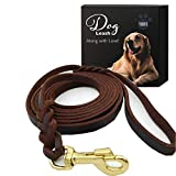 Petiry Genuine Leather Dog Leash, Braided Heavy Duty Leash ,Soft and Durable for Small Medium Large Dogs Walking and Trainning 5.5 Feet