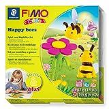 STAEDTLER Fimo Kids form&play Happy Bees 8034 27 LY - Pasta de modelar para horno con accesorios