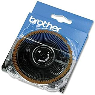 Brother Brougham 10-Pitch Cassette Daisywheel for Brother Typewriters, Word Processors (BRT411) by Brother
