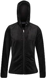 Regatta Women's Siddington Stretch Side Panels Hooded Softshell Jacket Fleece, Black/Black, 20