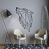 Style nordique Art géométrique loup vinyle autocollant mural pour salon décoration décalcomanies chambre décor Wall Decal Mural papier peint