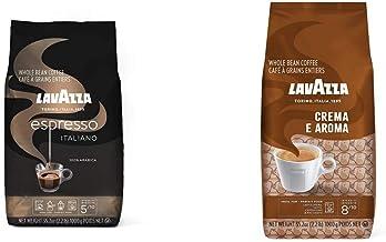 Lavazza Espresso Italiano Whole Bean Coffee Blend, Medium Roast, 2.2 Pound Bag (Packaging may vary) & Crema E Aroma Whole ...
