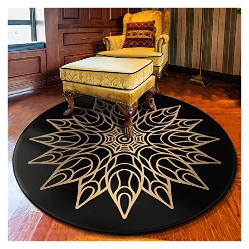 WZLL Round Rug Washable Multifunction Printing Decorative Carpet Kitchen Living Room Floor Mat Polypropylene (Color : H, Size : Ø60cm)