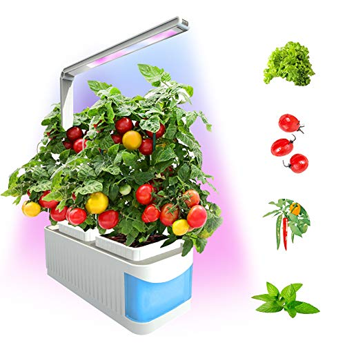 Smart Indoor Garden Kit,Herb Garden Hydroponics Growing System,Xmas Led Desktop Growing Light for...