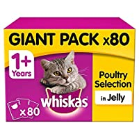 whiskas 1+ Cat Pouches Poultry Selection in Jelly 80x100g whiskas 1+ Cat Pouches Poultry Selection in Jelly 80x100g whiskas 1+ Cat Pouches Poultry Selection in Jelly 80x100g