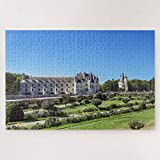 Jigsaw Puzzles 500 Pieces For Adults Large Piece Puzzle Chateau De Chenonceau In The Loire Valley France Wooden Intellectual Jigsaw Puzzle Fun Challenging Family Game Toys Gift Wall Decoration