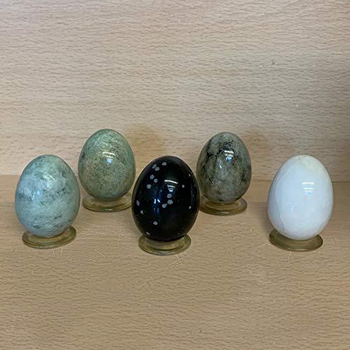 Edelstein Eier, 5 er Set, Verschiedene Steinsorten