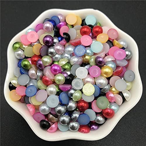 4 mm 6 mm 8 mm 10 mm Perlas de imitación Cuentas de acrílico Cuentas de álbum de recortes con parte posterior plana para hacer joyas Artesanía Perlas Accesorios de ropa-21,8 mm 50 piezas